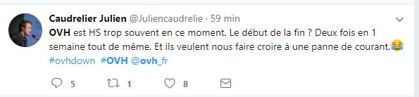 Tweet de Caudrelier Julien - Mécontent