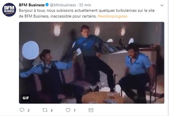 Tweet humour de BFM